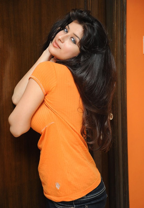 actress madhurima telugu jeans shirt long hair stylish tamil tight orange poses celebrity seductive