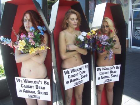 Id rather go naked than wear fur campaign