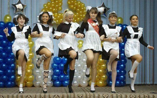Russain school graduation girls 5